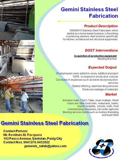 Fab Site Changingthepresentcom by Gemini Stainless Steel Fabrication Dost Ncr Projects