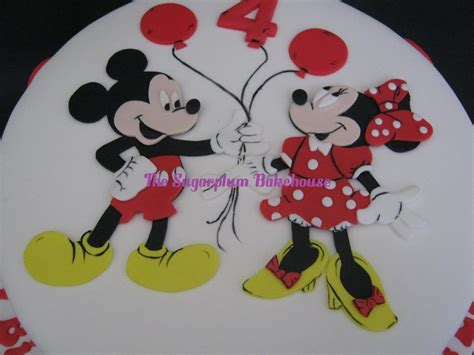 mickey mouse template for cake mickey and minnie mouse birthday cake by sugarplumb on