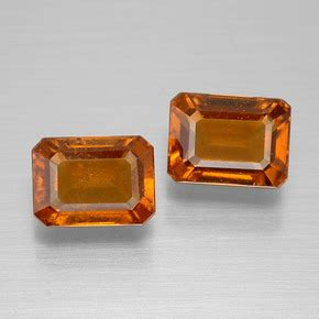 Hessonite Garnet 3 04 Crt 3 carat octagon emerald cut 7 1x5 2mm and