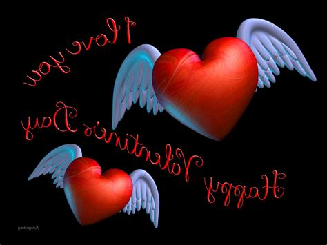 wallpaper her 3d winged valentine hearts red love you day 3d hd 20311