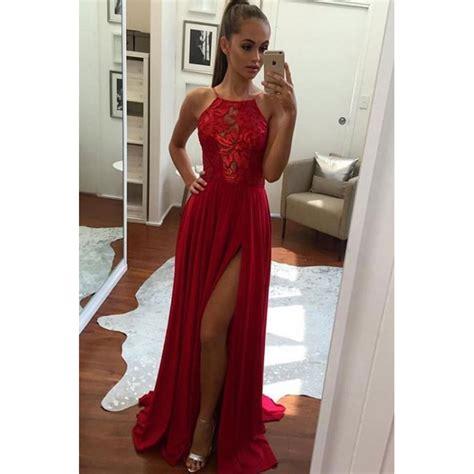 Line Slit slit prom dresses split evening dresses split