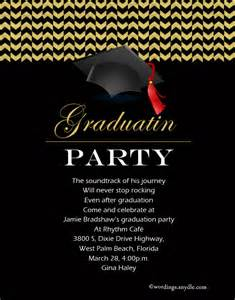 graduation invitation wording wordings and messages