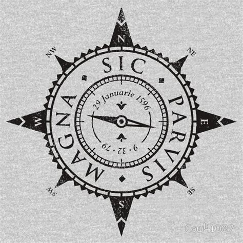 sic parvis magna stickers redbubble