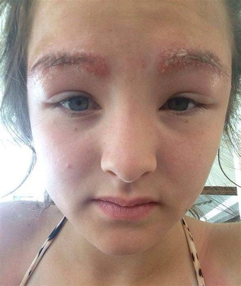 tattoo eyebrows old lady faux pas at beauty salon 13 yr old loses eyebrow
