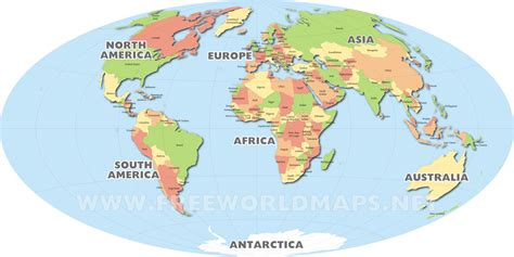 world map with country names in world map political with country names free