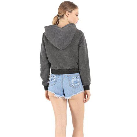 Sweater Hoodie Top casual hoodie sweatshirt jumper sweater coat sports pullover tops crop top ebay