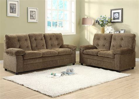 brown chenille sofa 9715br sofa in brown chenille fabric by homelegance