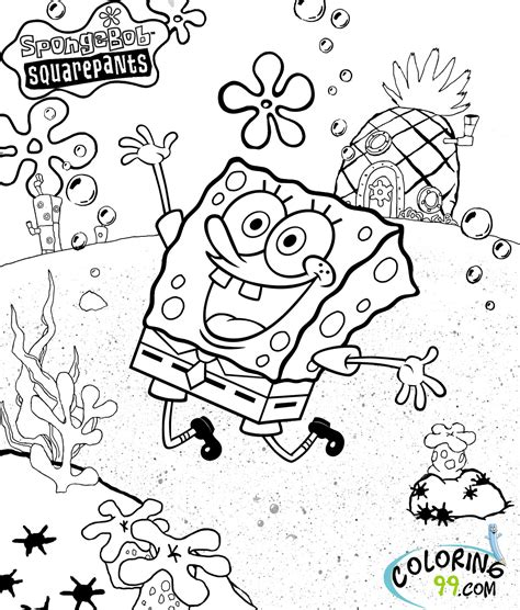 47 spongebob coloring pages and birthday cakes party ideas
