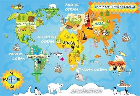 Map Of The World Wall Mural childrens map wall mural world map wallpapers