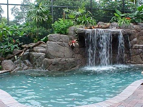 diy pool waterfall 4 home waterfalls ideas