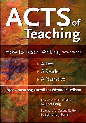 using picture books to teach narrative writing acts of teaching how to teach writing a text a reader