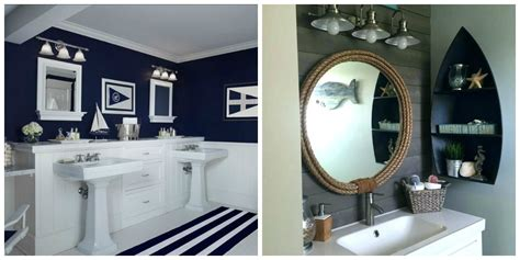 nautical bathroom decor give uniqueness to bathroom with