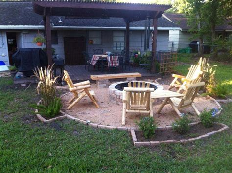 backyard pit grill pit landscaping ideas