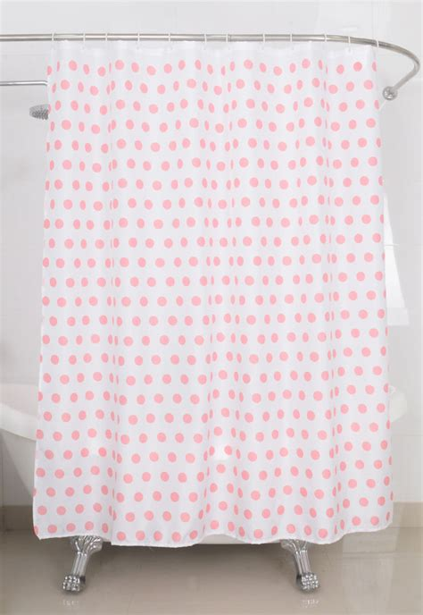 Pink Shower Curtains Fabric Fabric Shower Curtain Pink Dot Fabric Shower Curtain Ebay