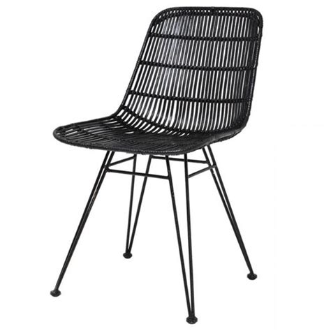 black wicker dining chairs hk living rattan dining chair black hk living