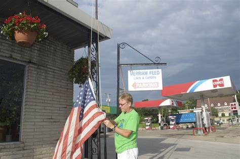 at merriam feed the flag goes up every morning rooted in