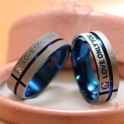 stainless steel wedding band korean jewelry