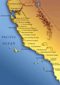 map of california coast parallel histories the california missions historias