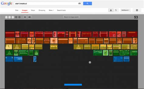 google images atari breakout google images easter egg celebrate s breakout s 37th birthday