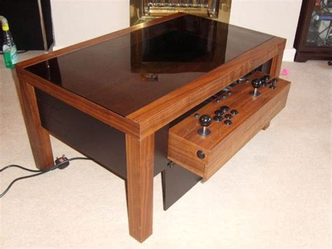 coffee table arcade coffee table arcade cabinet plans woodworking projects