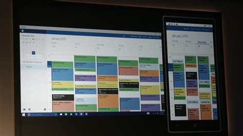Calendar App For Windows 10 Windows 10 Apps Are Now The Same On Desktop And Mobile