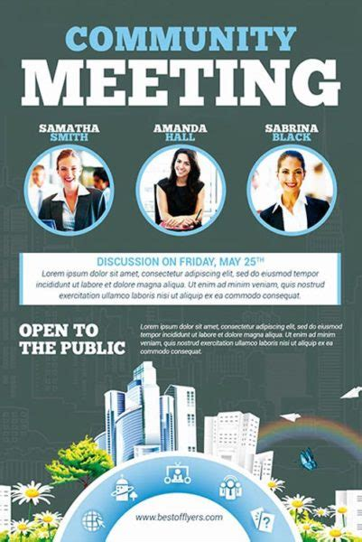 Community Meeting Free Flyer Template Download For Photoshop Community Templates Free