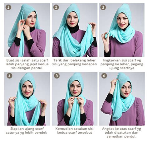 tutorial memakai hijab ala dewi sandra cara memakai hijab segi empat modern ala dewi sandra