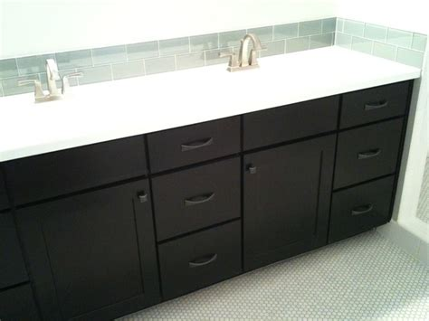 Black Cabinet Bathroom by Black Cabinets Shaker Style Cliqstudios Bathroom Minneapolis By