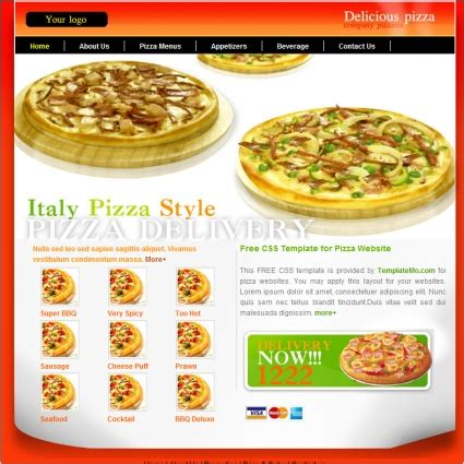 Pizza Free Website Templates In Css Html Js Format For Free Download 130 05kb Pizza Website Template