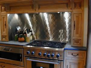 Kitchen With Stainless Steel Backsplash Stainless Steel Backsplash Custom Contemporary Kitchen Other Metro By Custom
