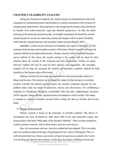 restaurant feasibility study template opening a restaurant plan dissertation sle