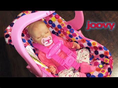 reborn doll car seat pink joovy car seat unboxing with reborn baby doll