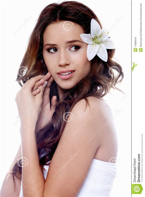 portrait of a beautiful brunette stock photo portrait of a beautiful brunette woman stock photo image