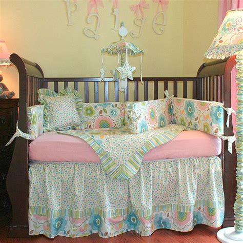 Low Price Hoohobbers 4 Piece Crib Bedding Sweet Pea For Crib Bedding For Sale