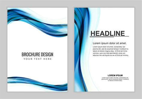 Background For Brochure Design by Free Vector Brochure Background Free Vector
