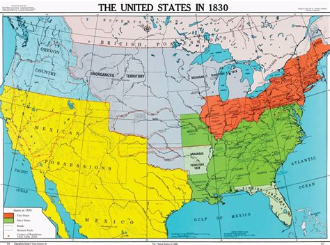us history map united states in 1830 u s history map