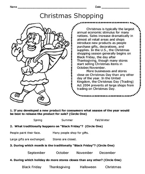 christmas theme workbook sle