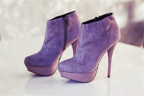 pretty boots boots fashion heels purple image 272955 on favim