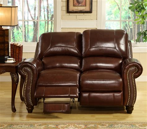abbyson living 2 pc leather pushback reclining