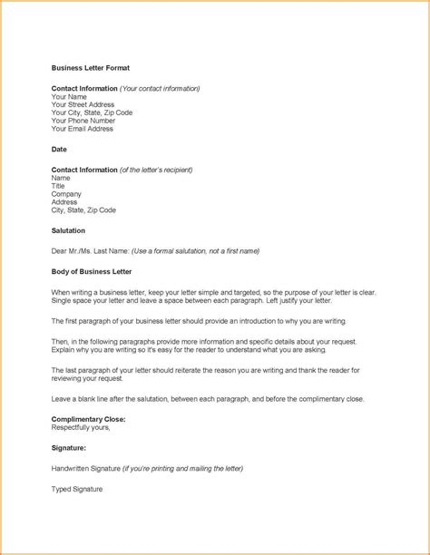business letter template wordword business letter template