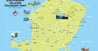 awiasih travel map lombok overview places  interest