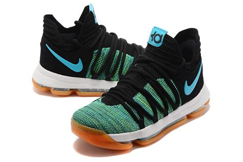 2017 nike kd 10 birds of paradise black clear jade for