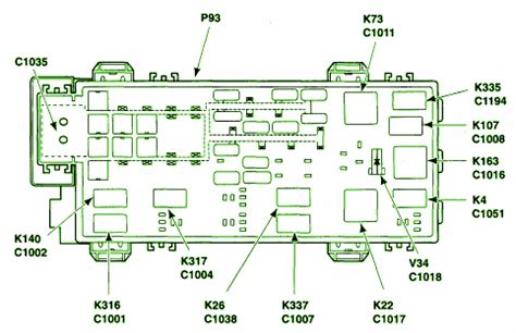2003 ford ranger battery junction fuse box diagram