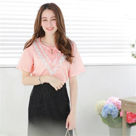 Blouse Korea Jerapa yoco womens blouse with lace bib japanese korean fashion ebay