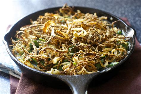 best ever green bean thanksgiving recipe green bean casserole with crispy onions smitten kitchen