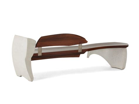 curved benches indoor nico yektai bench 15 series 1 oxidized sapele with