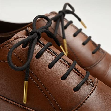 miscly waxed thin dress shoelaces with metal 2 pairs buy in uae shoes