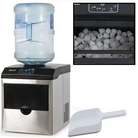 Stainless Steel Water Dispenser w/ Built In Ice Maker Machine Counter Portable   eBay