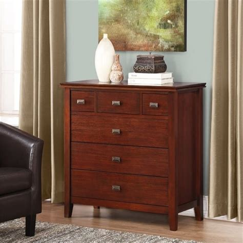 bedroom furniture auburn 6 drawer bedroom chest in auburn brown 3axcart 04