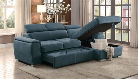 blue sectional sleeper sofa ferriday blue sofa chaise sleeper andrew s furniture and